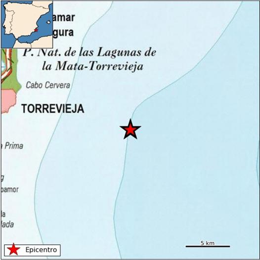 Torrevieja registra un terremoto de una magnitud de 2,3 6