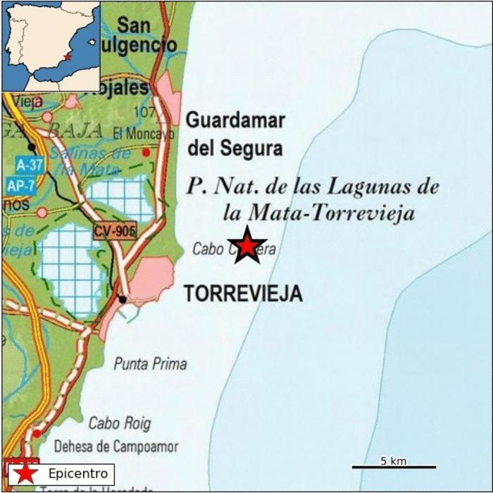 Torrevieja registra un terremoto de 2.5 de magnitud 6