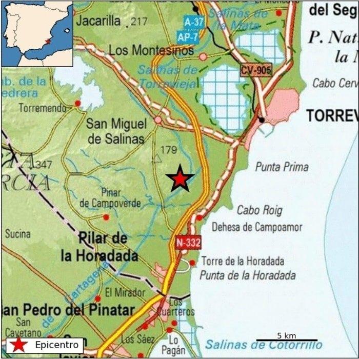 Un terremoto se deja notar entre San Miguel de Salinas y Orihuela Costa 6