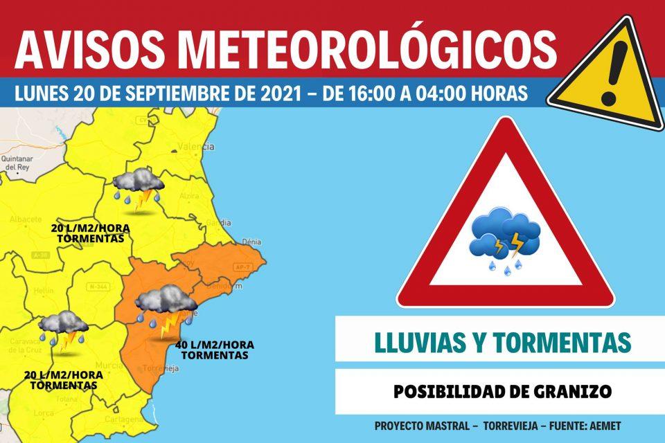 La AEMET eleva a nivel naranja el riesgo por lluvias 6