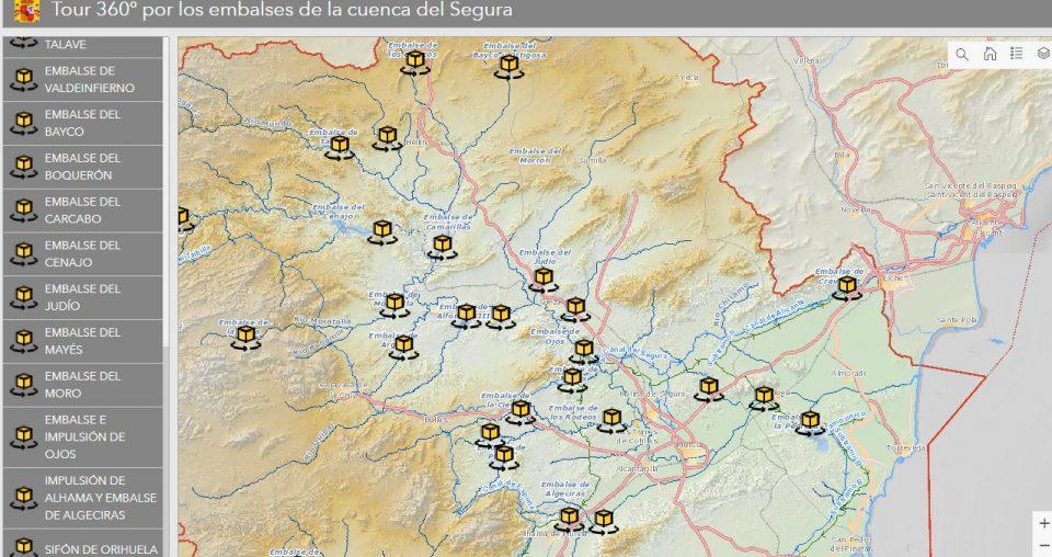 La CHS ofrece tours virtuales por los principales embalses de la cuenca del Segura 6