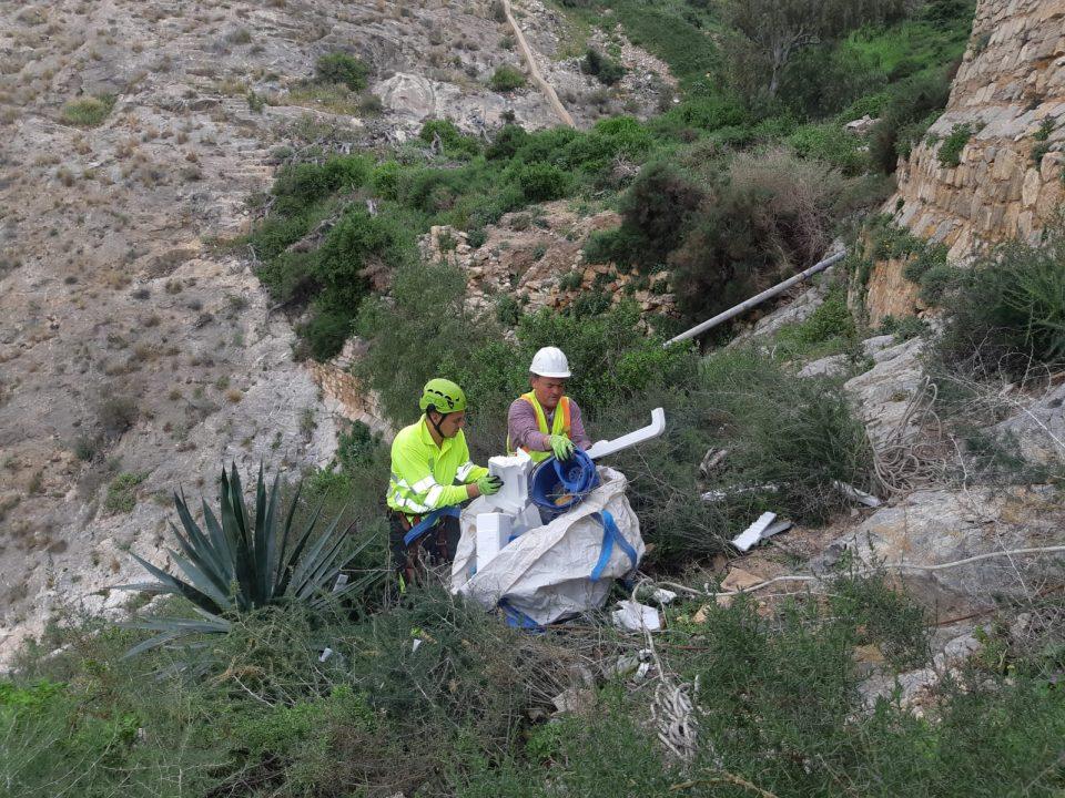 Finalizan los trabajos de limpieza en la ladera del Monte de San Miguel de Orihuela 6