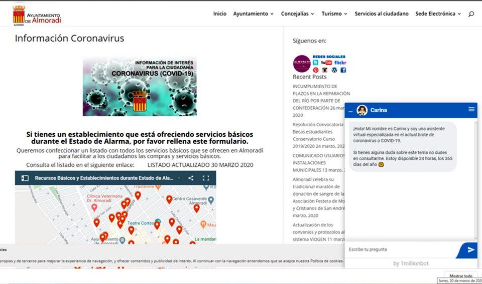 El Ayuntamiento de Almoradí activa un enlace en su web sobre el COVID-19 6