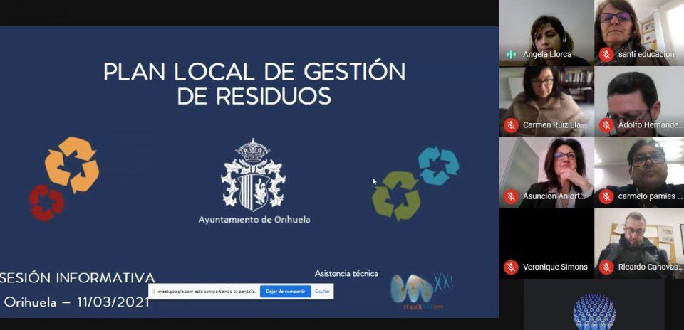 Más de medio centenar de vecinos participan en la Webinar del Plan Local de Gestión de Residuos 6